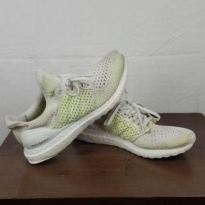 Rare Adidas boost off white/neon green sneakers 8